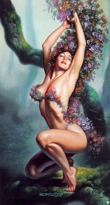 donna e fiori